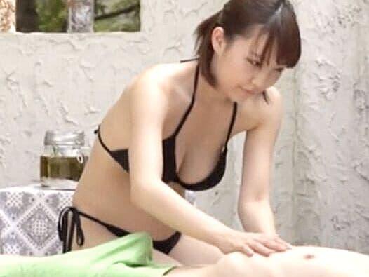 爆乳キタァァァッ‼【極上エステ】ビキニお姉さんの最上級スローセックス