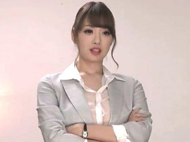 ノーブラ&透けシャツ女上司の羞恥Jカップ爆乳いじめ!